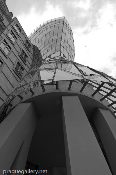 Looking up to Frank Gehry's 'Dancing House'